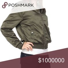 ✨HP - NEW PICS!✨ Satin bomber jacket The pictures don't do this jacket justice! It is so cute on everyone that tries it on and the Dark Olive is on trend with Fall/Winter 2017.  Limited quantities available! Bundle for additional discounts. 11/15/17 Host Pick Best in Gifts :) Jackets & Coats