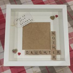 Mummy Daughter Frame, Mother Daughter, Mother's Day Present, Birthday Gift, Personalised Scrabble Frame for Mum for any occasion Mummy Daughter Frame Mother Daughter My Mummy Mother. Scrabble Frame, Scrabble Art, Scrabble Tiles, Diy Mothers Day Gifts, Mothers Day Presents, Gifts For Mom, Mother Gifts, Personalized Birthday Gifts, Frases