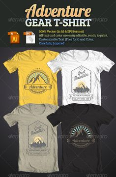 Adventure Gear T Shirt By Tiarprayoga ITEM Design With Vintage Retro Style 100 Vector Illustration All Text Is Easy Editable Use
