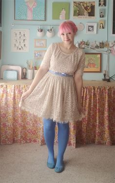 dress - swap with amber belt - asos tights - c/o we love colors shoes - modcloth Lately I've been thinking a lot about life pre-social ne...