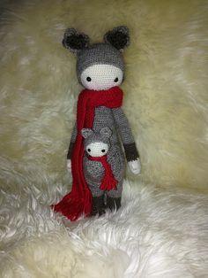 KIRA the kangaroo made by Maik P. / crochet pattern by lalylala