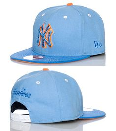 NEW ERA New York Yankees basketball snapback cap Team logo embroidered on front 2 tone brim Adjustable strap on back of hat for ultimate comfort
