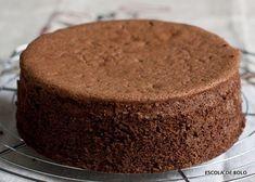 O pão de ló de chocolate é fácil de fazer e muito versátil. INGREDIENTES 5 ovos em temperatura ambiente 270 gr. de açucar (1 1/2 xícara) 1 colher de chá de sal 180 gr. de farinha de trigo ( 1 1/2 xícara) 120 gr. de chocolate em pó (1 1/4 xícara) 250ml.