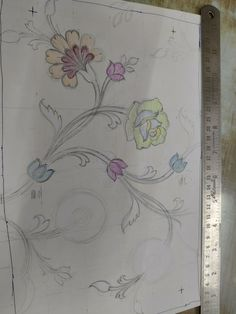 Border Embroidery Designs, Bead Embroidery Patterns, Textile Patterns, Beaded Embroidery, Textile Design, Lucknowi Suits, Big Rangoli Designs, Afghan Dresses, Art File