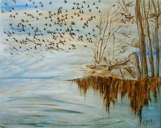 'In The World Of Birds' - Oil Painting by Tania Baeva.