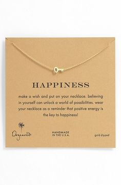 Dogeared 'Whispers - Happiness' Boxed Pendant Necklace on shopstyle.com