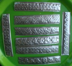 Make metal decor ouot of Dollar Store aluminum cookie sheets.  STARSHINE CHIC decorating on a dime or even less