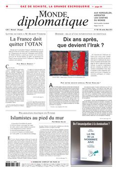 LE MONDE DIPLOMATIQUE en francés  nº 708 (Marzo 2013)