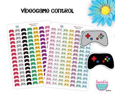 Video game control Stickers, Planner Stickers, Erin Condren, Plum Paper, Limelife, Happy Planner and other planners de SandiaStickers en Etsy