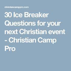 christian adult icebreaker