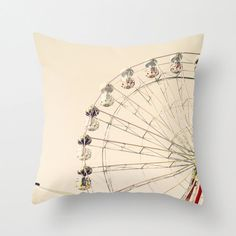 Pillow Cover kids pillow cream Pillow ferris wheel by Andrekart, $37.00
