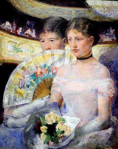 Mary Cassatt - The Loge at National Art Gallery Washington DC