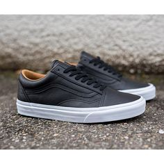 VANS OLD SKOOL - (PREMIUM LEATHER) BLACK