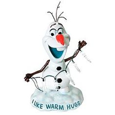 Disney Olaf Statue with Icicle Lights