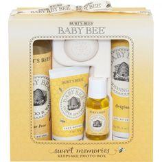 Burt's Bees Baby Bee Sweet Memories Keepsake Photo Box.  Too cute.