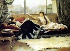 Julius LeBlanc Stewart, Reading aloud, 1908 - #ARTEmisiaLegge - @Libriamo Tutti - http://www.libriamotutti.it/