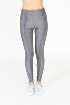 High Rise Legging - Charcoal Snake - INFLOWSTYLE  - 1