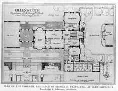 Plan of Killenworth, Residence of George D Pratt, Esq., At Glen Cove, Long Island | ARCHI/MAPS : Photo
