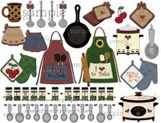 kitchen baking cooking clipart sample 3 in the club Kitchen Clipart, Paper Art, Paper Crafts, Primitive Painting, Decoupage, Recipe Scrapbook, Cooking Clipart, Crafty Craft, Paper Toys