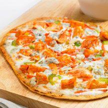 Grilled Flatout® Flatbread Buffalo Chicken Pizza