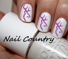 50pc Purple Country Deer Nail Decals Nail Art Nail by NailCountry, $3.99   Hey Brooke Rosebaugh this is for you...