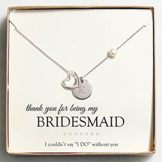 Cathy's Bridesmaid Jewelry Actually fairly inexpensive - also have for Maid of Honor, Mother, etc. Nice site for personalized gifts.