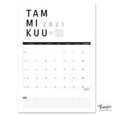 Tammikuun 2021 tulostettava seinäkalenteri #tammikuu2021 #kalenteri #tulostettava #ilmainen #calendar #january2021 #januari2021 #januar2021 #janvier2021 #print #free #virtasia