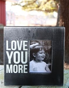 Love You More Box Picture Frame. Use promo code 'All' to get 15% off your entire order from the All Inspired Boutique.