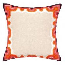 Trina Turk Arcata Embroidered Pillow, Orange and Pink