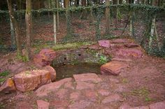 Merlin's tomb - The forest of Paimpont, also known as Broceliande, in Brittany