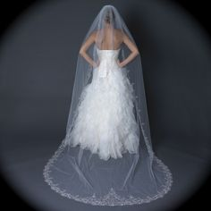 Bella Tiara Dramatic Embroidered Edge Cathedral Wedding Veil. Bella Tiara Dramatic Embroidered Edge Cathedral Wedding Veil on Tradesy Weddings (formerly Recycled Bride), the world's largest wedding marketplace. Price $249.99...Could You Get it For Less? Click Now to Find Out!