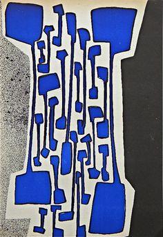 Serigraph, 1955 by Carol Rama   Italian Artist b.1918, part of the Movimento Arte Concreta