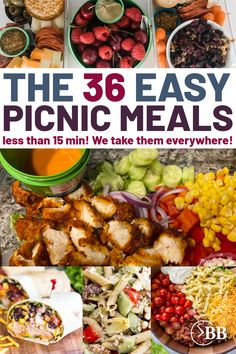 The easiest picnic meals ever. They're quick, easy and they taste amazing! Save yourself time and energy throwing together a simple dinner that everyone will LOVE. Make Ahead Meals, Easy Meals, Lunch Recipes, Vegetarian Recipes, Nutella Sandwich, Ham Salad, 15 Minute Meals, Turkey Sandwiches, Picnic Foods