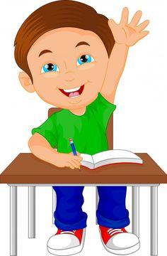 Menino de escola sentado na mesa Vetor P. Reading Cartoon, Cartoon Boy, Kids Routine Chart, Clown Crafts, School Frame, Grammar Book, Cartoon Background, Learning Time, School Boy