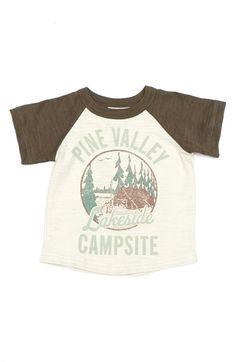 Peek 'S'mores' Raglan Sleeve Slub Cotton T-Shirt (Baby Boys)