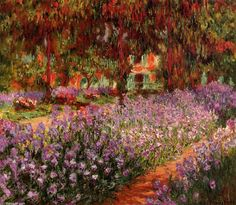 Claude Monet - The Garden (aka Irises)