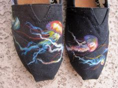 Colorful Jellyfish Painted TOMS $90