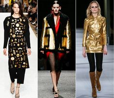 gold rules the runway- your guide to fall on www.asafetypin.com