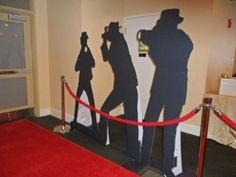 Fake Paparazzi cutouts to line the entrance at a Hollywood themed Bar Mitzvah or Bat Mitzvah celebration!