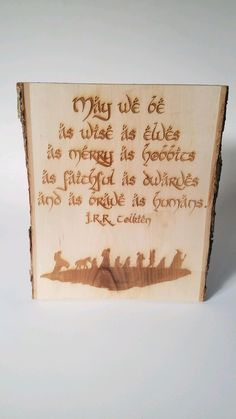 LoTR - Inspired Hobbit / Tolkien Quote and Fellowship Silhouette