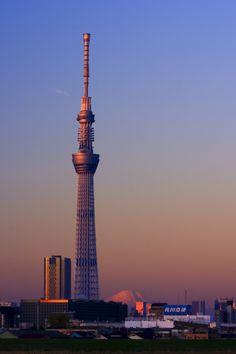 CANON(キヤノン)のカメラ Canon EOS Kiss Digital Xで撮影した(Tokyo sky tree)の写真(画像) Aesthetic Japan, Sky Aesthetic, Tokyo Skyline, Japanese Symbol, Tower Design, Tokyo Tower, Mount Fuji, Japanese Architecture, Countries Around The World