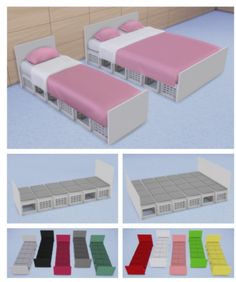 Veranka: Crates Bed Frames • Sims 4 Downloads Check more at http://sims4downloads.net/veranka-crates-bed-frames/