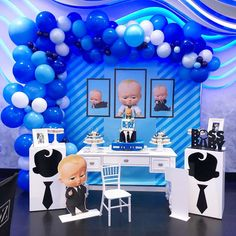 with _repost ・・・ Happiest birthday to handsome Mike .la cake and desserts by cutout by rentals decoration, table set up, backdrop and balloons by me Baby Boy 1st Birthday Party, First Birthday Themes, Baby Party, Birthday Ideas, Happy Birthday Boss, Boss Baby, Decoration, Backdrops, Desserts