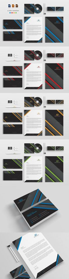 #stationery #design from BettyDesign | DOWNLOAD: https://creativemarket.com/BettyDesign/639431-Corporate-Stationery-Pack?u=zsoltczigler