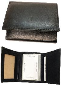 Tri-Fold Billfold - Item LW7234 - Basic Tri-Fold Billfold Leather Wallet Come in your choice of 2 colors - Black & Brown. Basic Tri-Fold Billfold with i.d. slot.