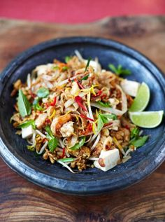 Got to try this one!!! Yum!!!  Prawn & Tofu Pad Thai | Friday Night Feasts | Jamie Oliver