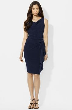 Lauren Ralph Lauren Ruffled Jersey Sheath Dress available at #Nordstrom