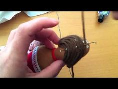 video tutorial - how to make Tilda's doll hair