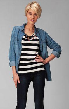 Promod Denim - Denim shirt = the new fashion must-have