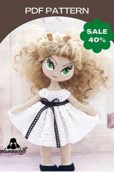 Crochet Doll Pattern, Crochet Toys Patterns, Stuffed Toys Patterns, Crochet Dolls, Crocheted Toys, Amigurumi Patterns, Knitting Patterns, Handmade Dolls Patterns, Handmade Toys